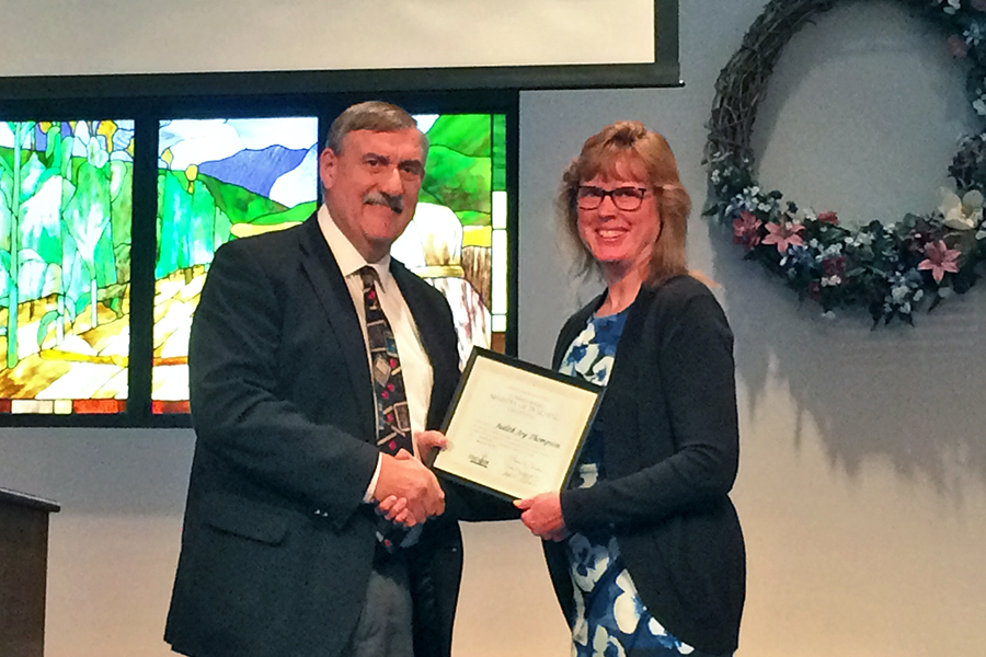 Judi Thompson Receives Commissioned Ministry Of Teaching Credential